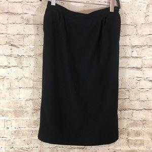 Pendleton black midi skirt size 12